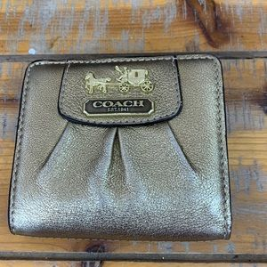 Coach Wallet Small, Gold in color